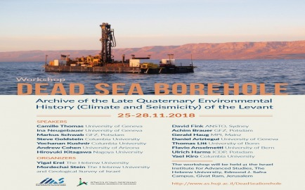 dead sea borehole poster 2018